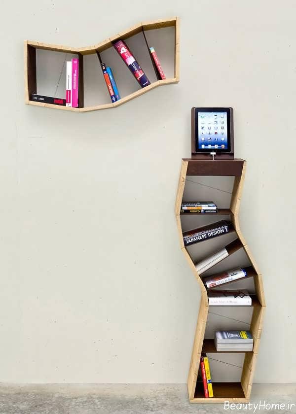 مدل های مدرن و خلاقانه کتابخانه دیواری
