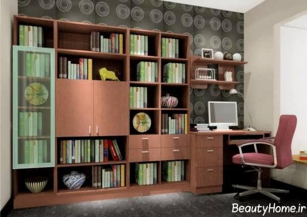 مدل های ساده کتابخانه دیواری