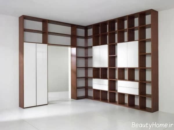 مدل های کاربردی و مدرن کتابخانه دیواری