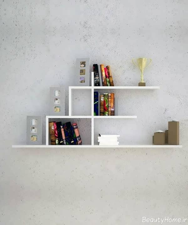 مدل کتابخانه دیواری با انواع طراحی کاربردی و مدرن