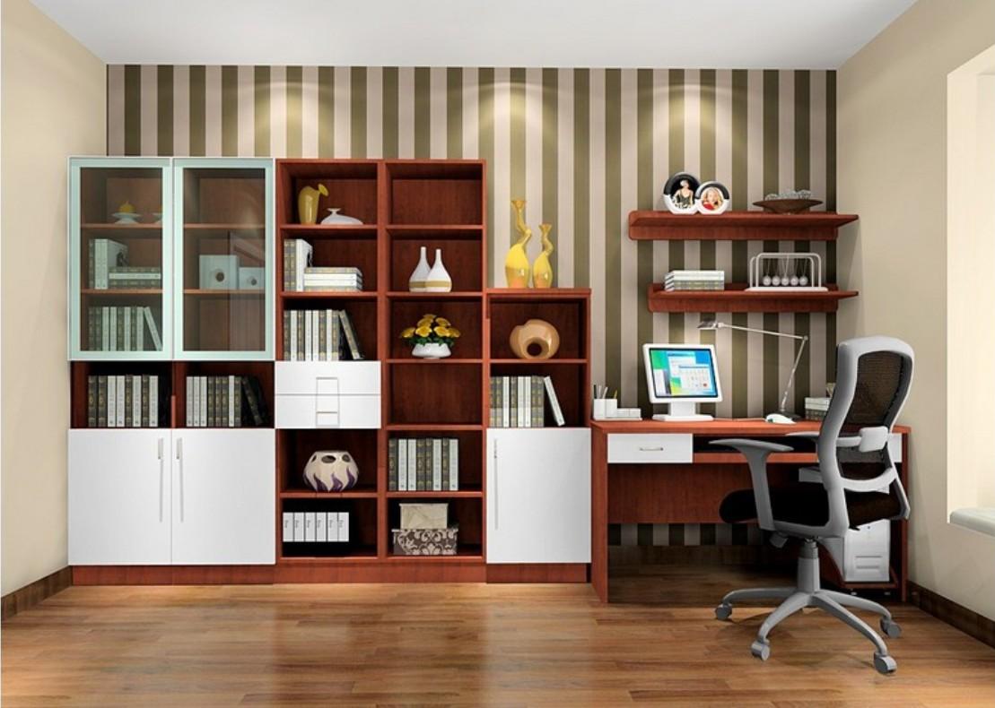 مدل کتابخانه دیواری با طراحی مدرن و کاربردی