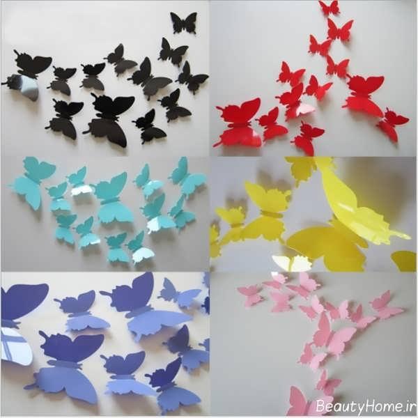 Decorating Paper Crafts For Home Decoration Interior Room: تزیین دیوار با کاغذ رنگی و طرح های خلاقانه ای که باید ببینید