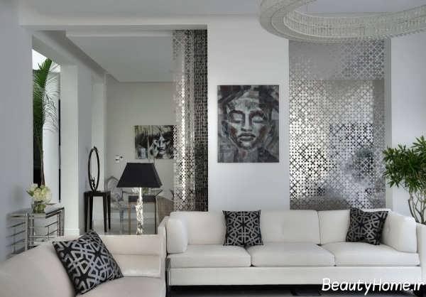طراحی دکوراسیون شیک و جذاب اتاق نشیمن
