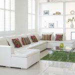 دکوراسیون نشیمن سفید با طراحی شیک و کاربردی