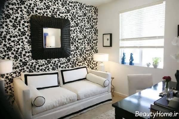 دکوراسیون سیاه و سفید اتاق نشیمن