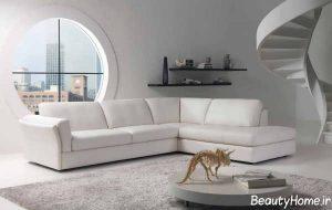 دکوراسیون سفید اتاق نشیمن