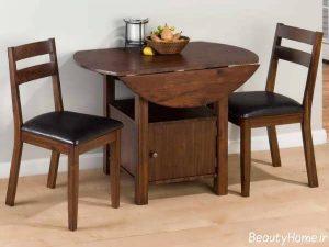 مدل های میز ناهار خوری چوبی با طراحی زیبا و متفاوت