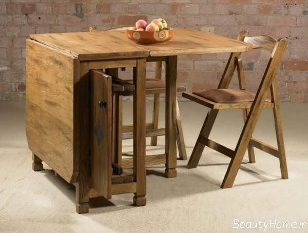 میز ناهار خوری چوبی با طرح های جذاب