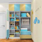 کمد دیواری اتاق بچه با طراحی شیک و کاربردی