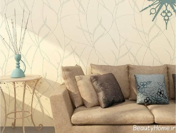 کاغذ دیواری با طرح ساده و زیبا