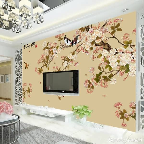 مدل کاغذ دیواری با طرح گلدار