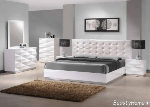 مدل سرویس خواب سفید با طرح شیک
