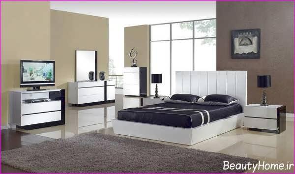 سرویس خواب سفید با طراحی شیک و زیبا