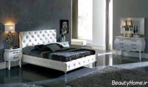 سرویس خواب کلاسیک با رنگ سفید