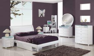 سرویس خواب دو نفره با طراحی شیک و زیبا