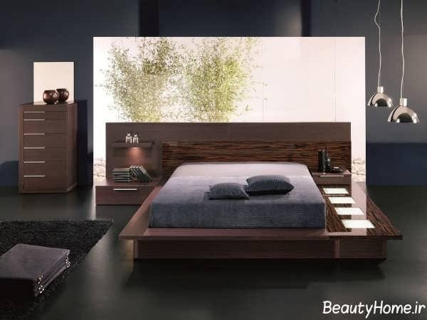 سرویس خواب دو نفره چوبی