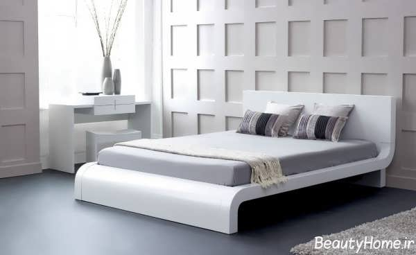 مدل سرویس خواب دو نفره سفید