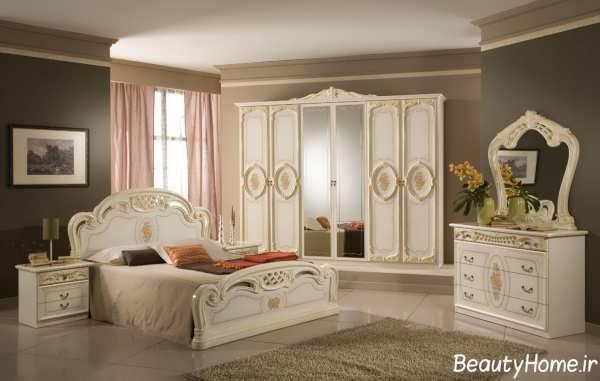 دکوراسیون اتاق خواب کلاسیک و زیبا