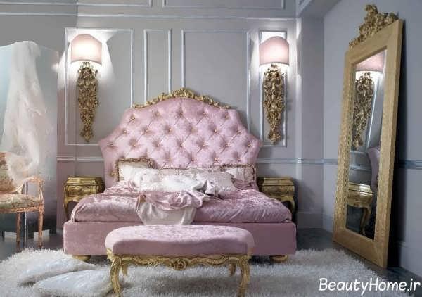 دکوراسیون صورتی و بنفش اتاق خواب