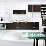 مدل کابینت سفید و مشکی با طرح جدید و مدرن