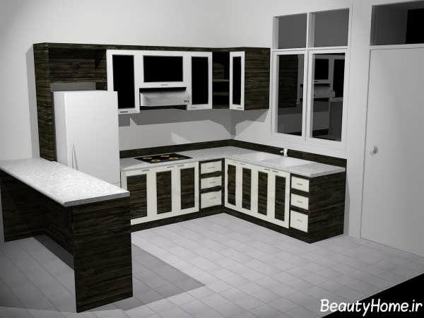 کابینت مدرن و کاربردی آشپزخانه