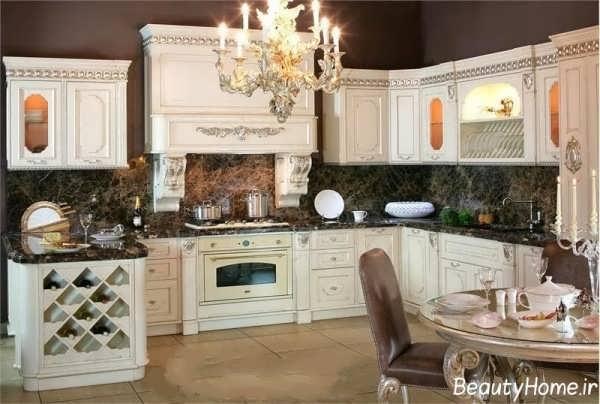 دکوراسیون سفید آشپزخانه سفید