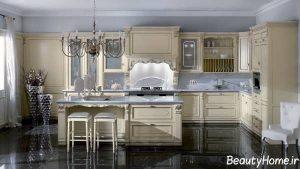 دیزاین دکوراسیون کلاسیک آشپزخانه