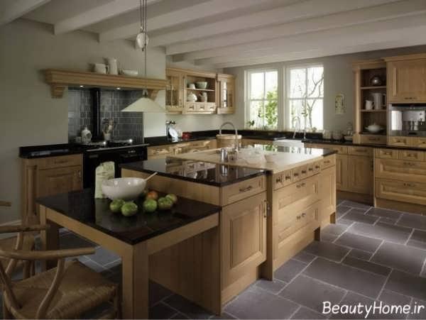 دکوراسیون سنتی و کلاسیک آشپزخانه