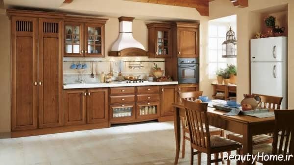 دکوراسیون شیک و کاربردی آشپزخانه با سبک کلاسیک