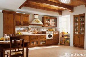 دکوراسیون آشپزخانه کلاسیک با طراحی شیک