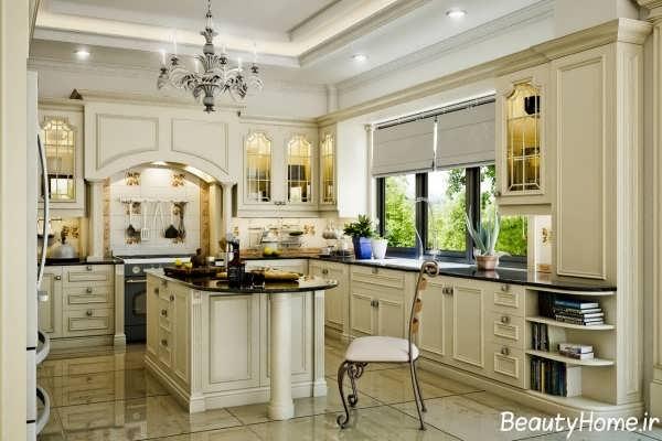 دکوراسیون زیبا و شیک آشپزخانه کلاسیک