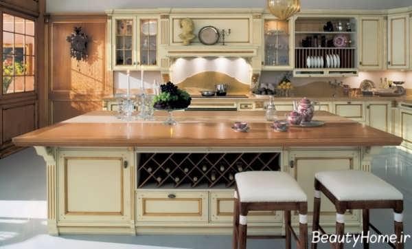 دکوراسیون شیک و متفاوت آشپزخانه کلاسیک