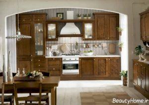 دکوراسیون قهوه ای آشپزخانه