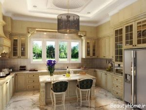 دکوراسیون آشپزخانه با سبک کلاسیک