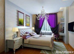 مدل پرده شیک و زیبا برای اتاق خواب با طراحی متفاوت