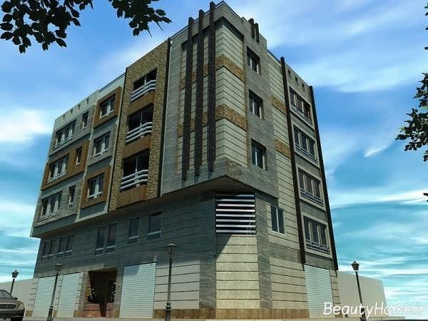 نمای آجر و سنگ ساختمان