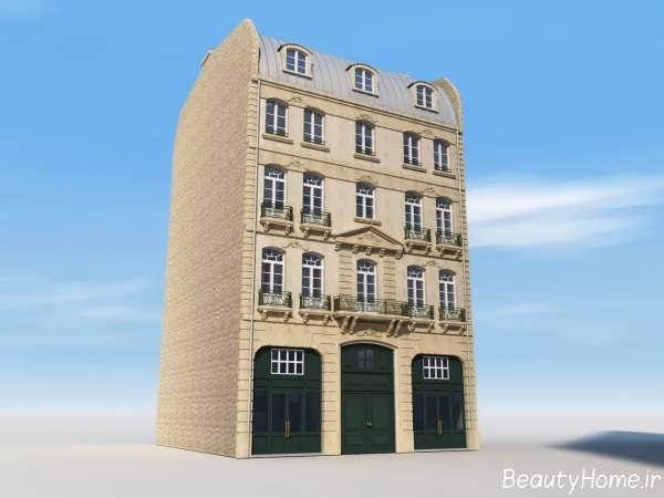 نما کلاسیک ساختمان چهار طبقه
