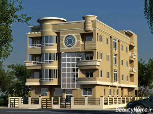 دیزاین زیبا و متفاوت نما ساختمان