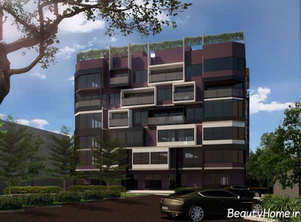 نما ساختمان چهار طبقه شیک و متفاوت