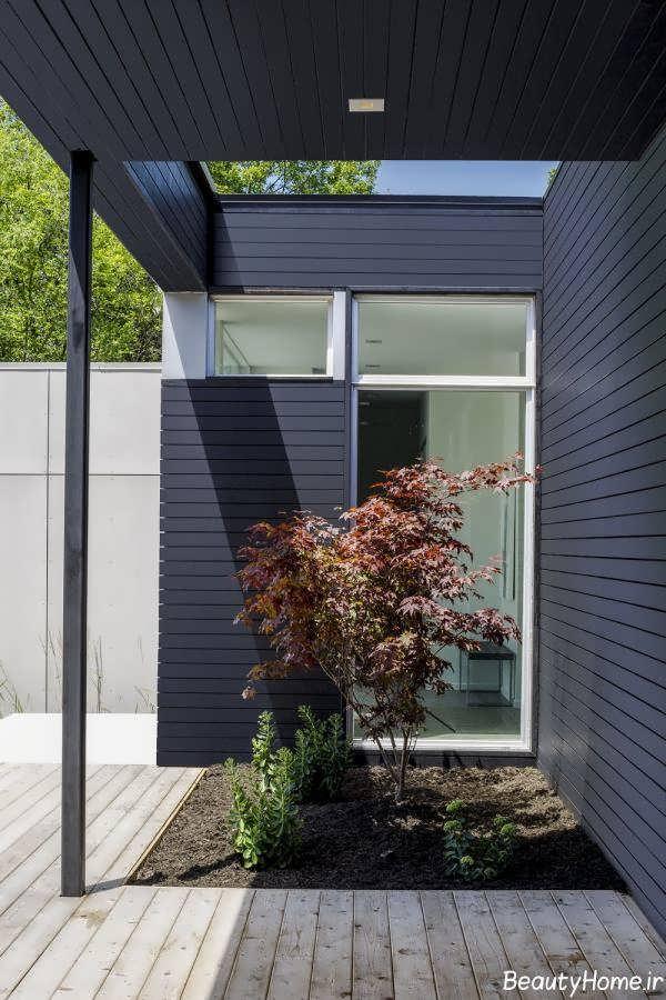 طراحی محوطه خانه دوبلکس