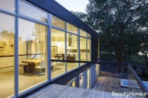 طراحی شیک و کاربری محوطه حیاط خانه دوبلکس
