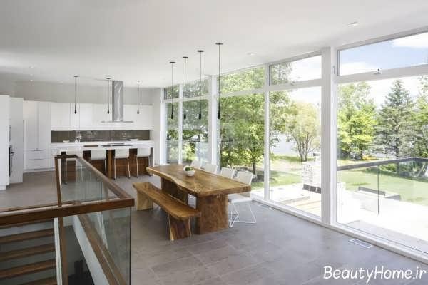 معماری داخلی خانه دوبلکس با طراحی شیک و کاربردی