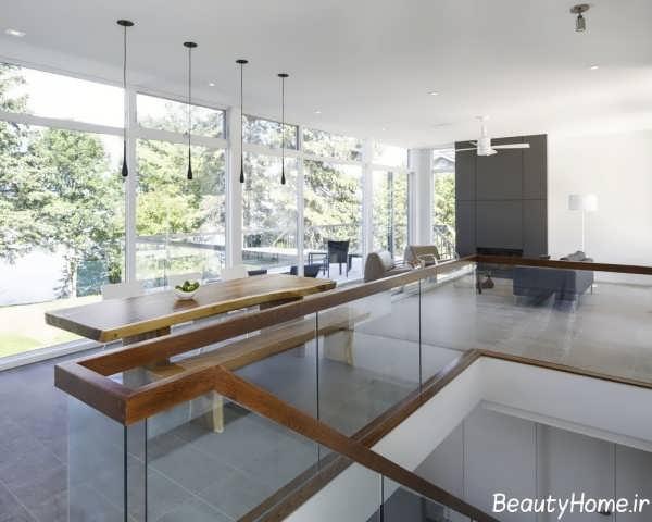 معماری خانه دوبلکس با طراحی متفاوت و زیبا