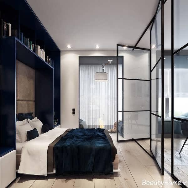 دیزاین داخلی اتاق خواب با فضای کم
