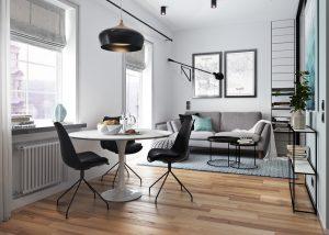 طراحی دکوراسیون داخلی 5 خانه با فضای کم
