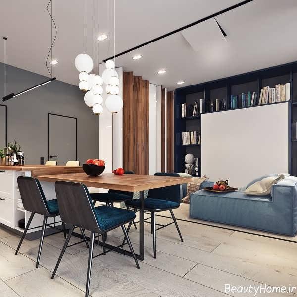 طراحی دکوراسیون داخلی اتاق نشیمن کوچک