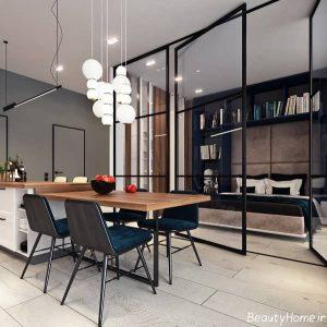 دکوراسیون شیک و زیبا خانه با فضای کم
