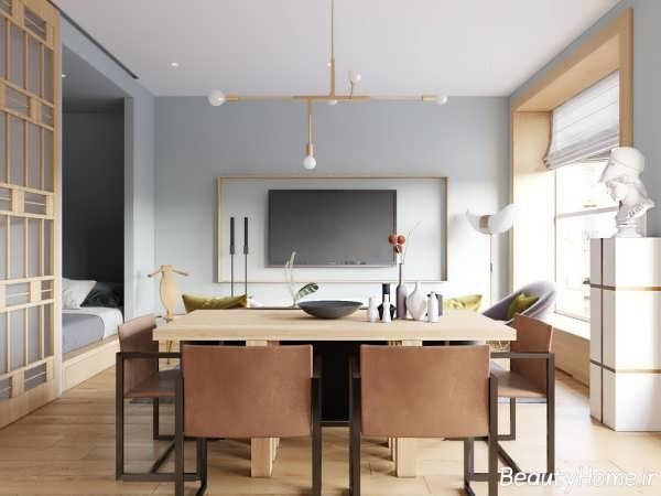 دکوراسیون زیبا و متفاوت خانه با فضای کوچک