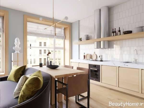 دکوراسیون داخلی آشپزخانه با متراژ کوچک