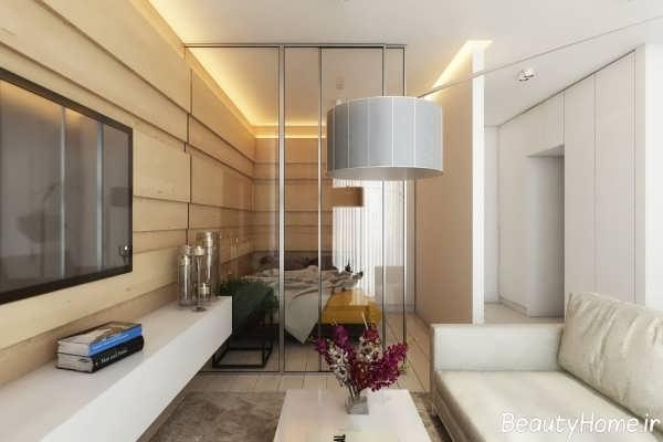 طراحی دکوراسیون سفید اتاق نشیمن